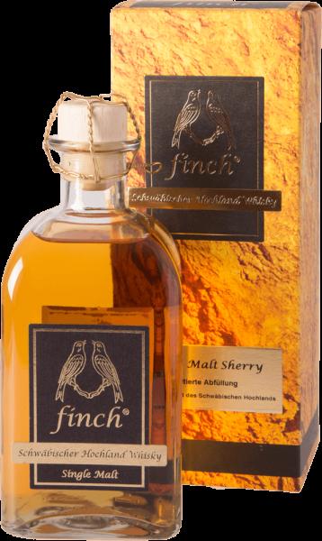 finch Schwäbischer Hochland Whisky Single Malt Sherry 42 Prozent 500ml