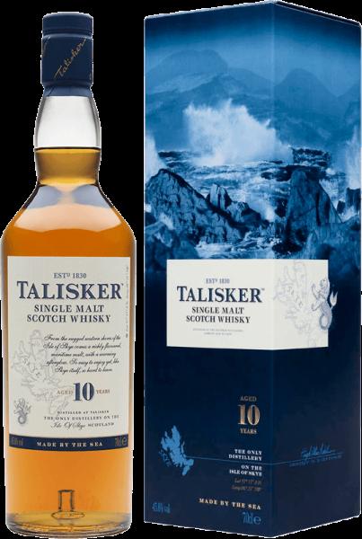 Talisker 10 Jahre Islands Single Malt Whisky 45,8 Prozent mit Geschenkverpackung