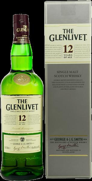 Glenlivet 12 Jahre Speyside Single Malt Whisky 40 Prozent