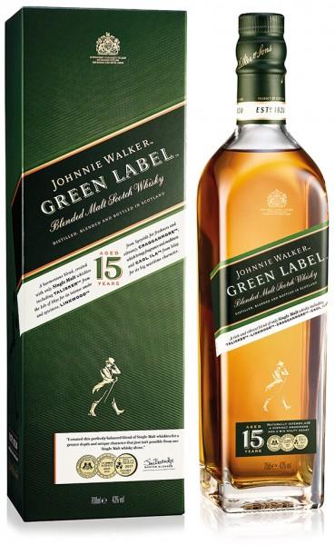 Johnnie Walker 15 Jahre Green Label Blended Scotch Whisky 40%
