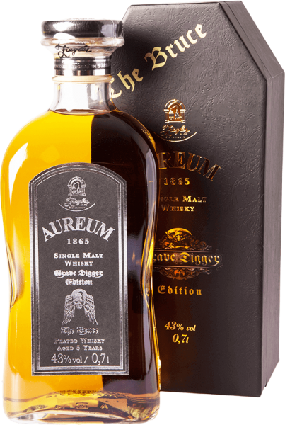 Ziegler Aureum Grave Digger The Bruce Edition Single Malt Whisky 43 Prozent im Geschenksarg