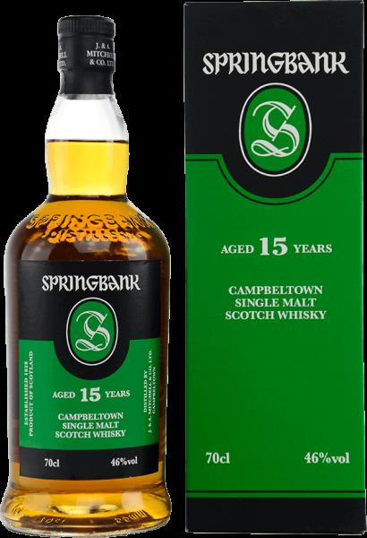 Springbank 15 Jahre Campbeltown Single Malt Whisky 46 Prozent