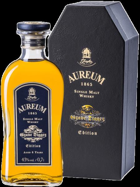Ziegler Aureum Grave Digger Edition Single Malt Whisky 43 Prozent mit Sarg-Geschenkset